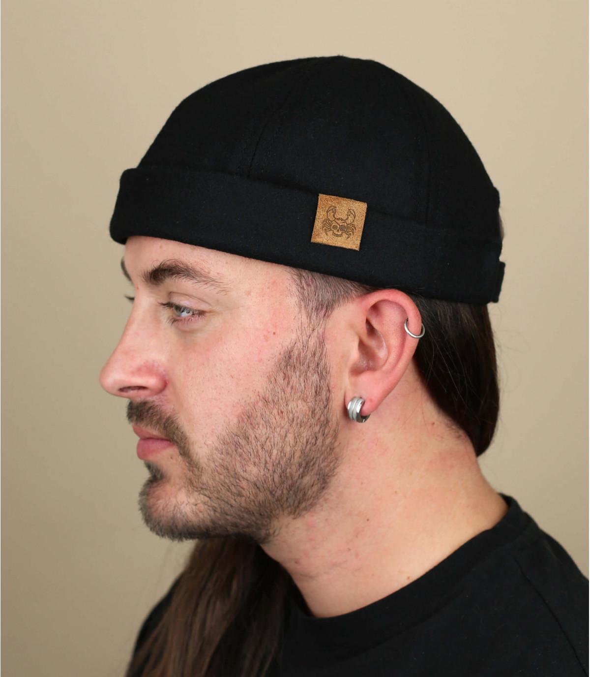 dokwerker hoed krab zwart