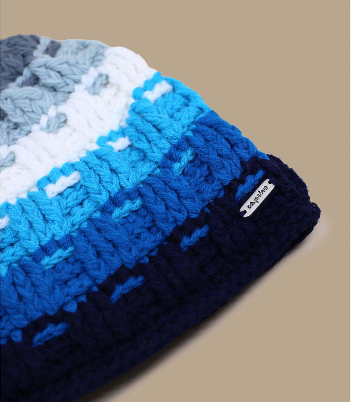 Details Platine blauwe beanie - afbeeling 3