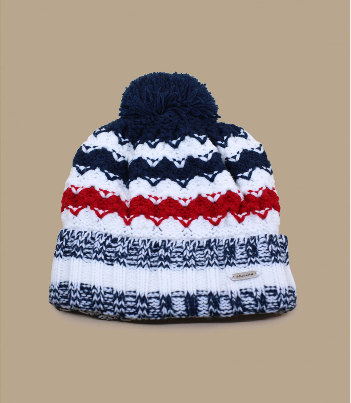 hoed rood wit blauw kwast