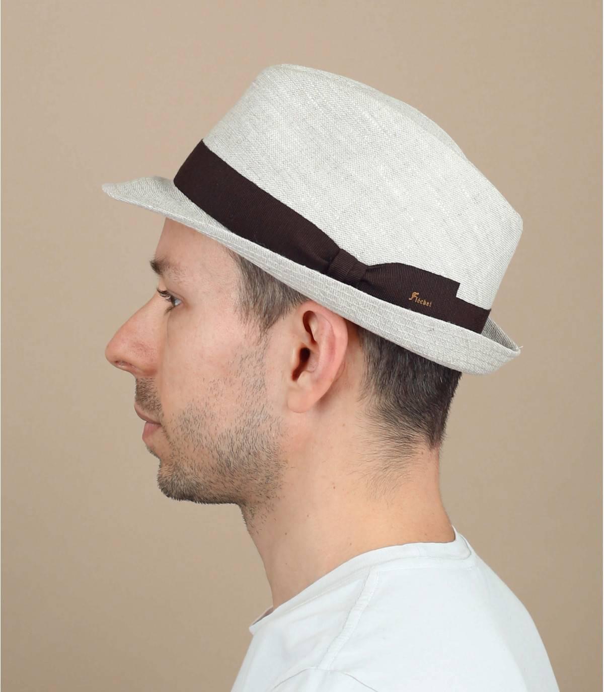 beige linnen hoed Fléchet