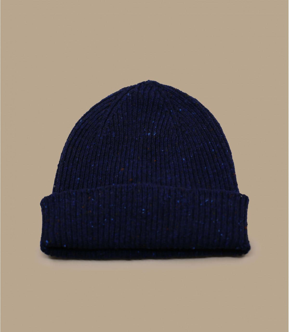 docker hoed wol blauw