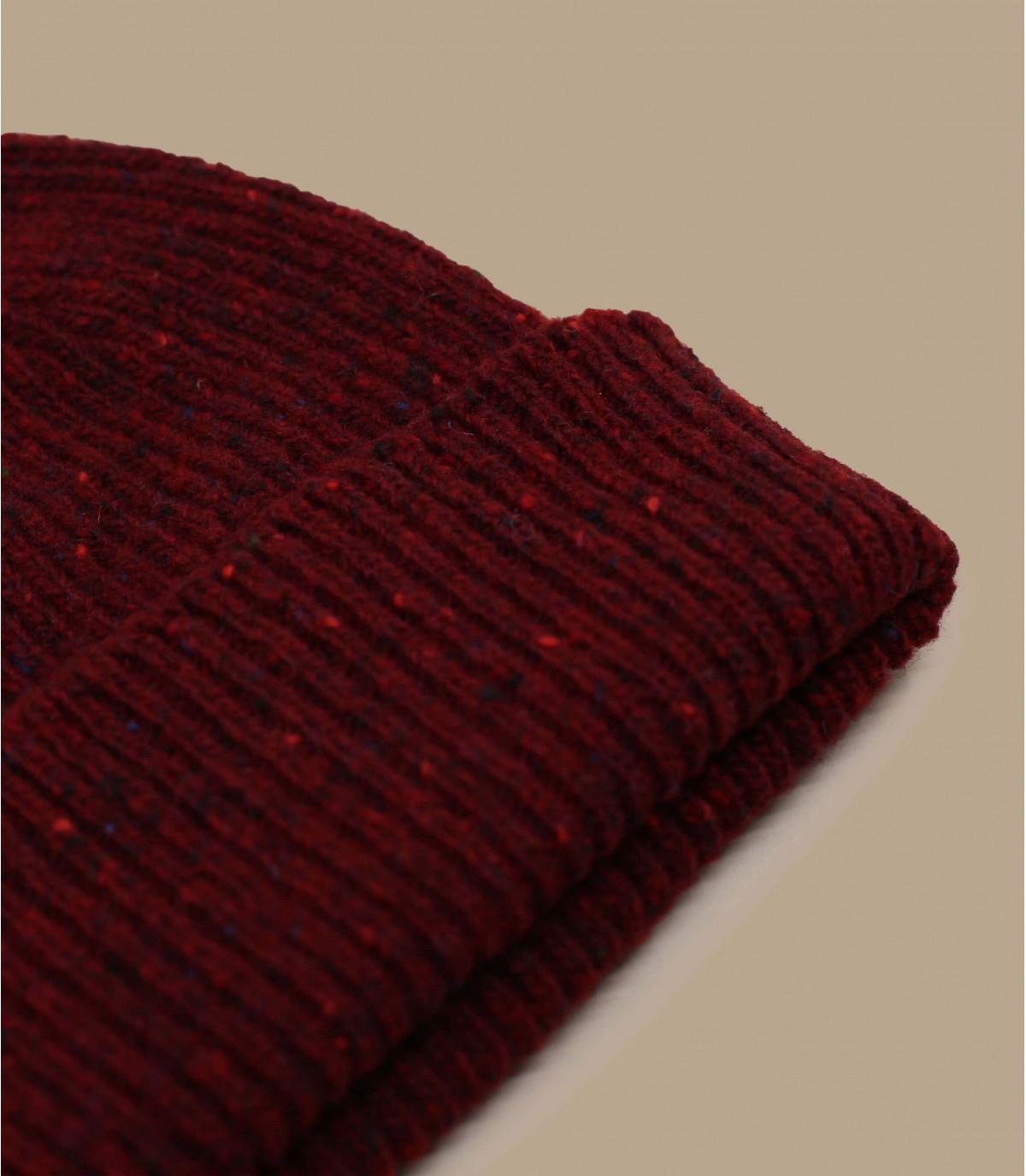 dumper hoed bordeauxrode wol