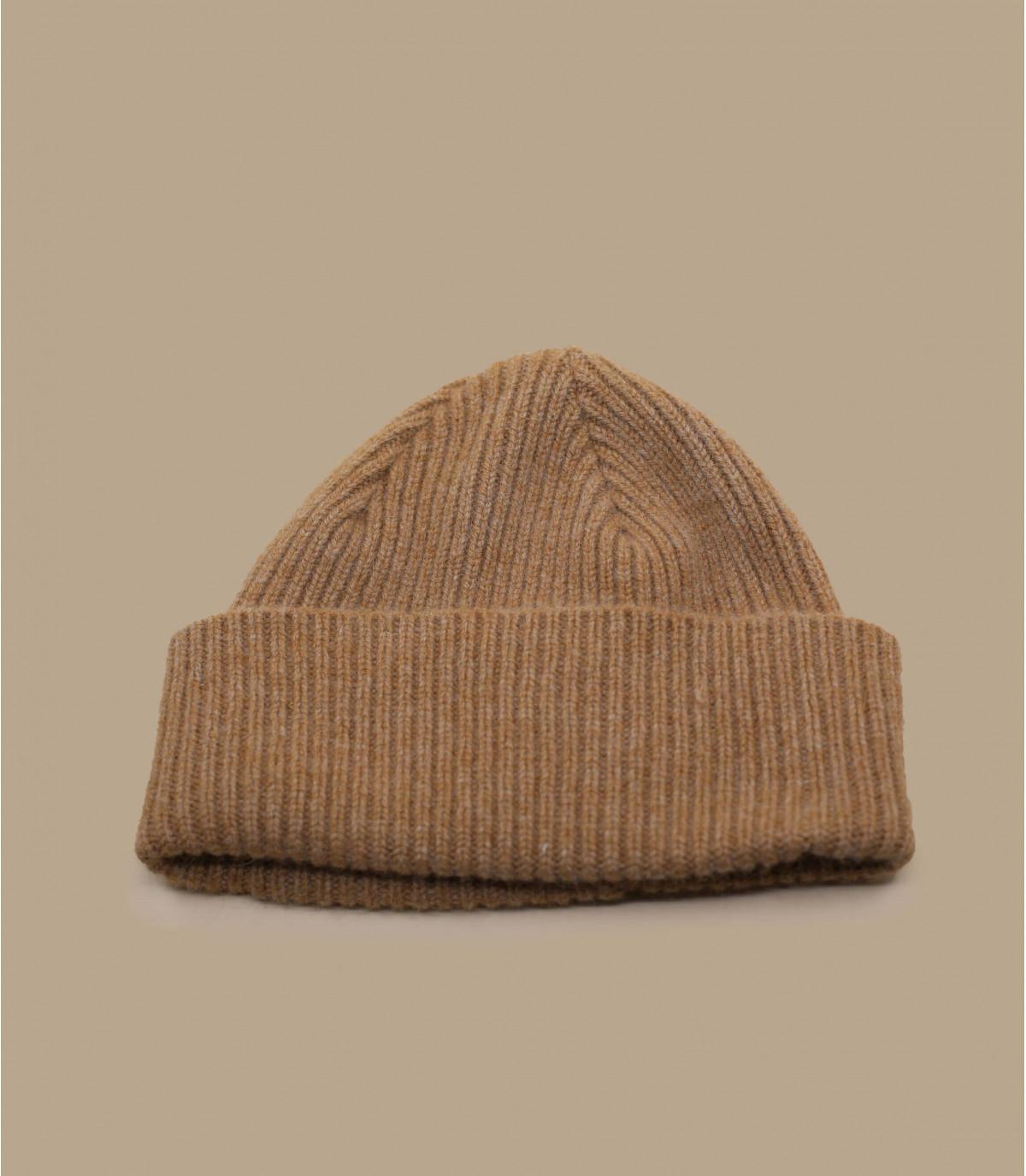 hoed revers beige angora