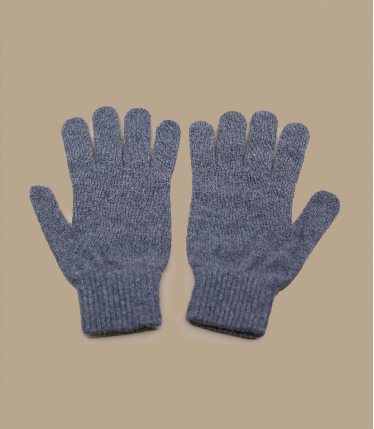 grijze wollen handschoenen