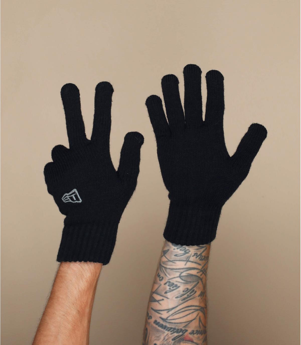 zwarte handschoenen New Era