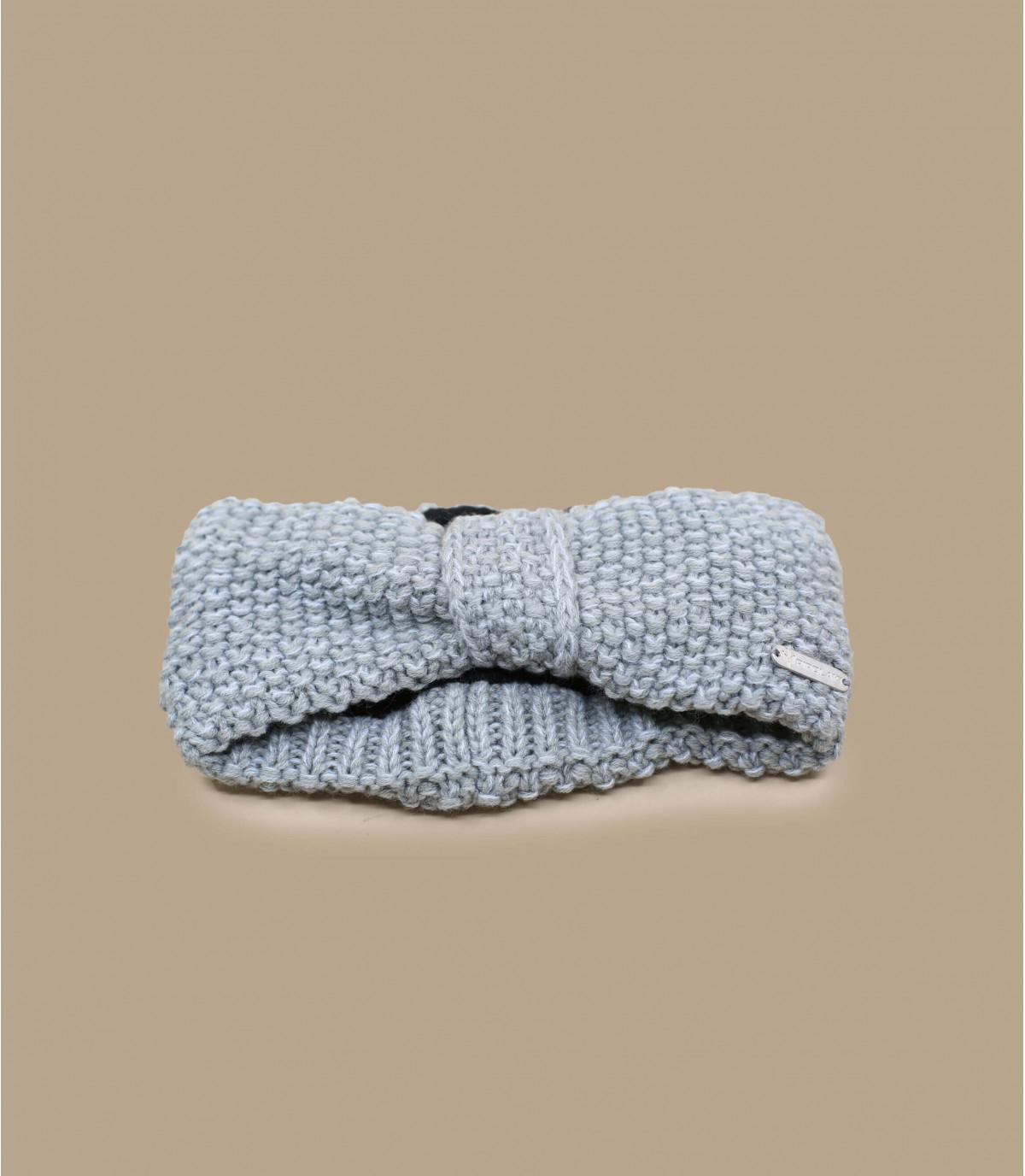 grijze gebreide hoofdband