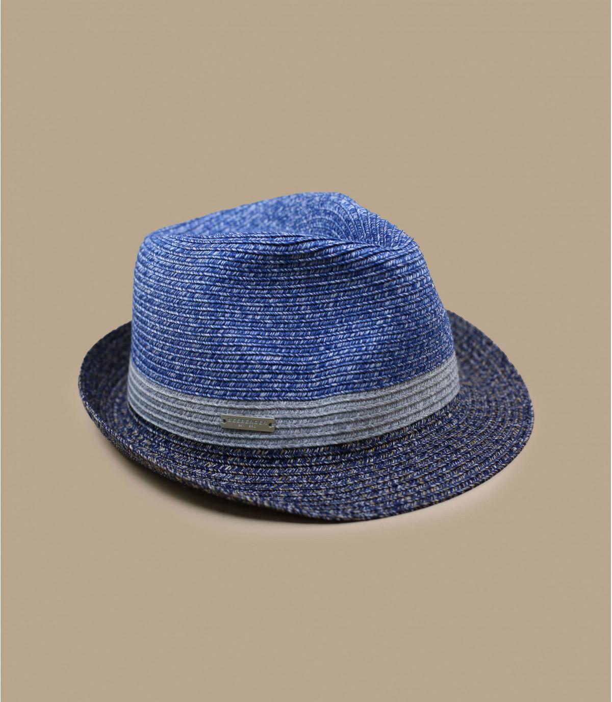 striscia blu grigia trilby