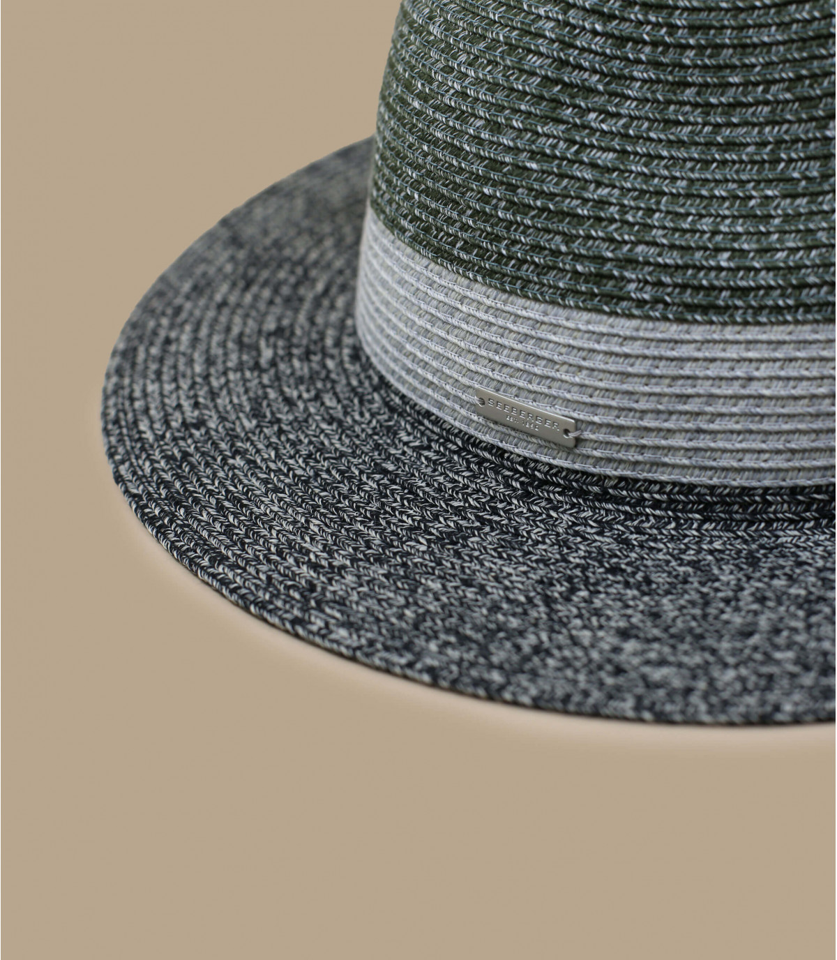 Details Fedora stripe design khaki black - afbeeling 2