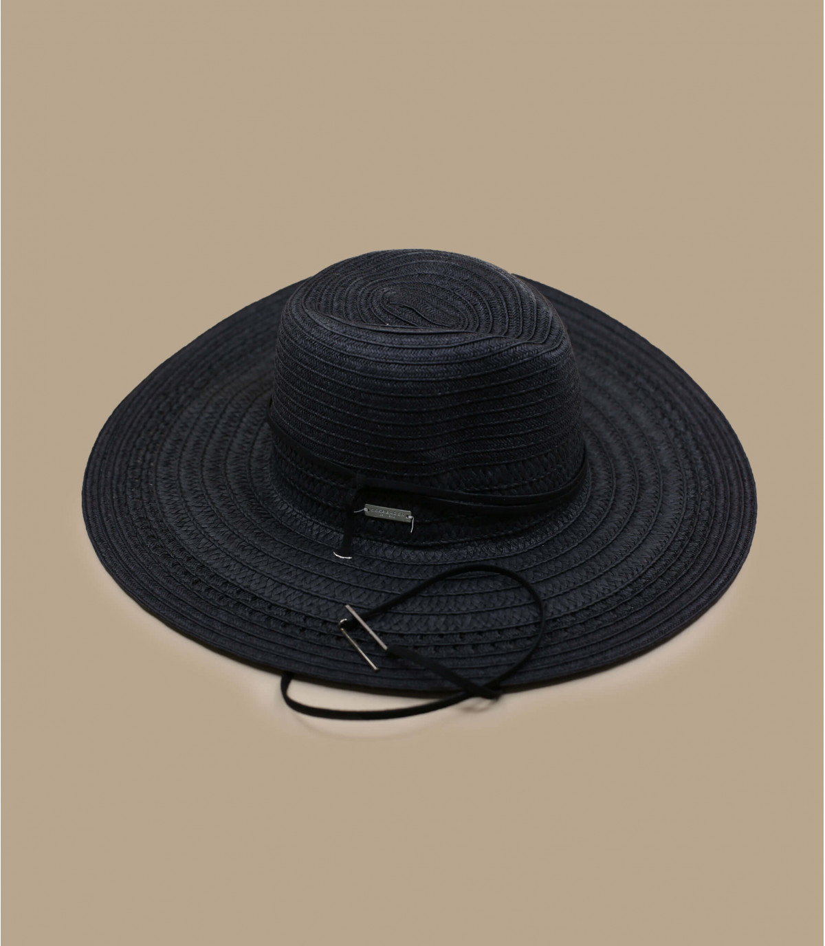 cappello di paglia nero Seeberger