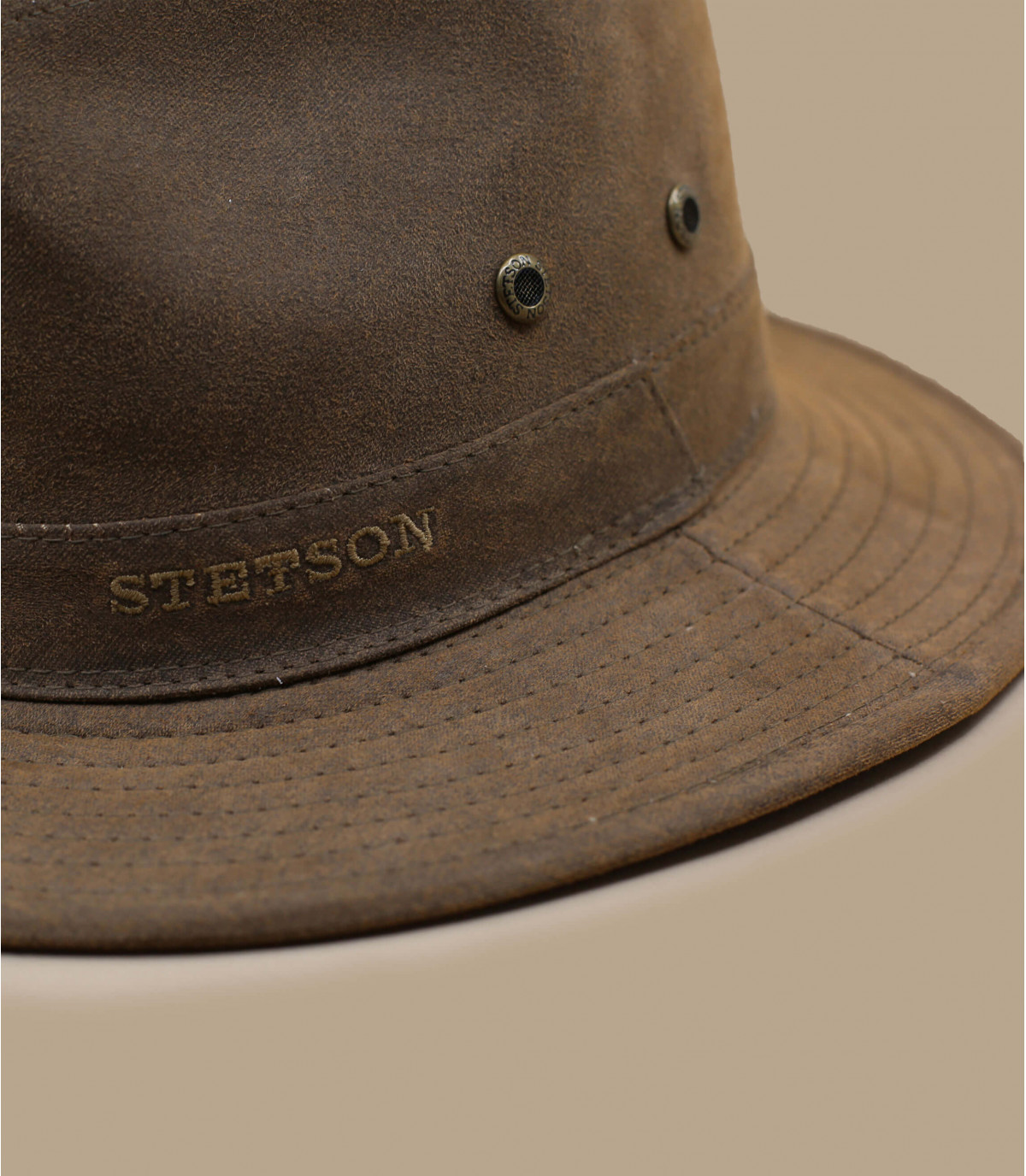 bruine katoenen hoed