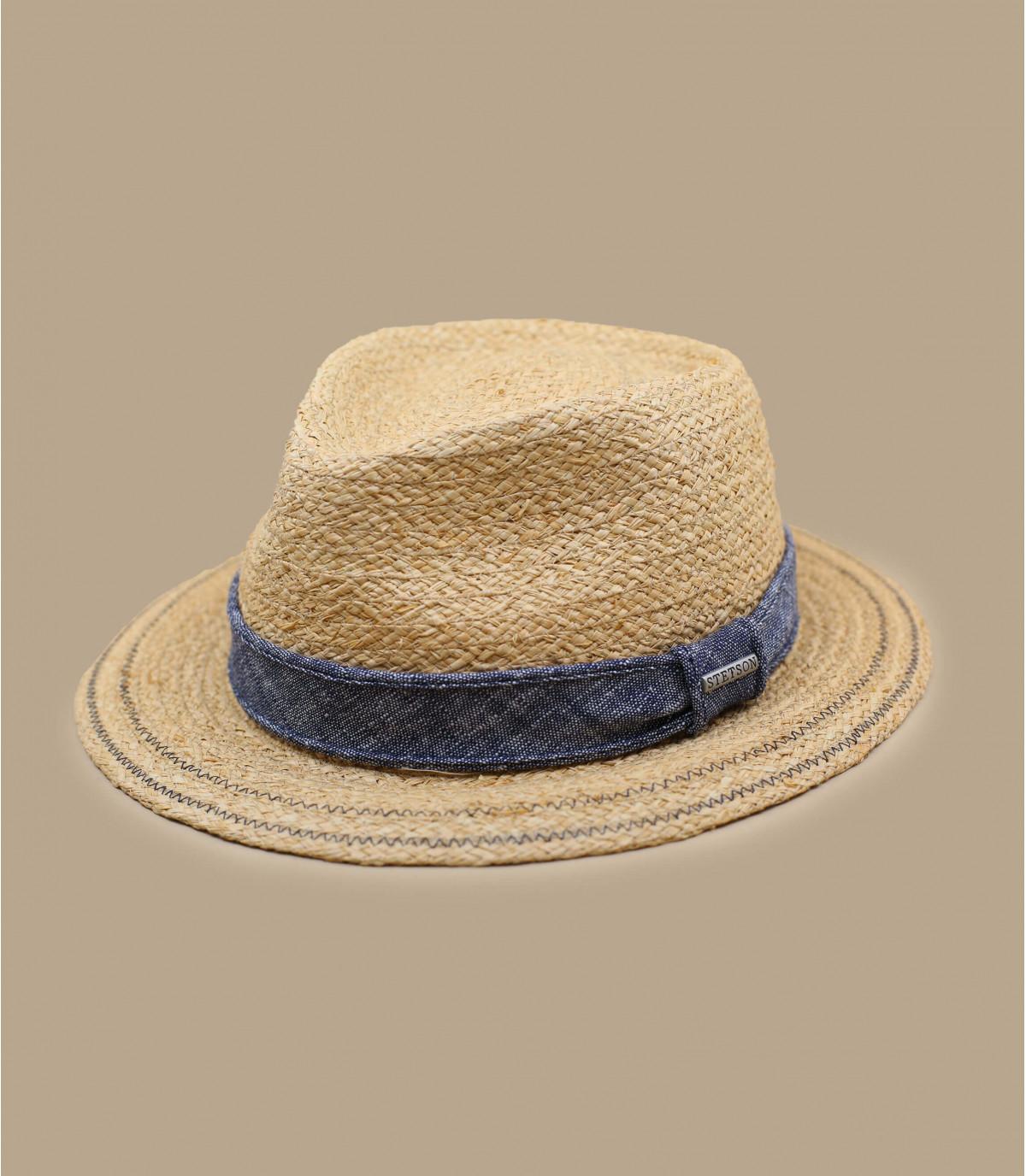 denim strooien hoed
