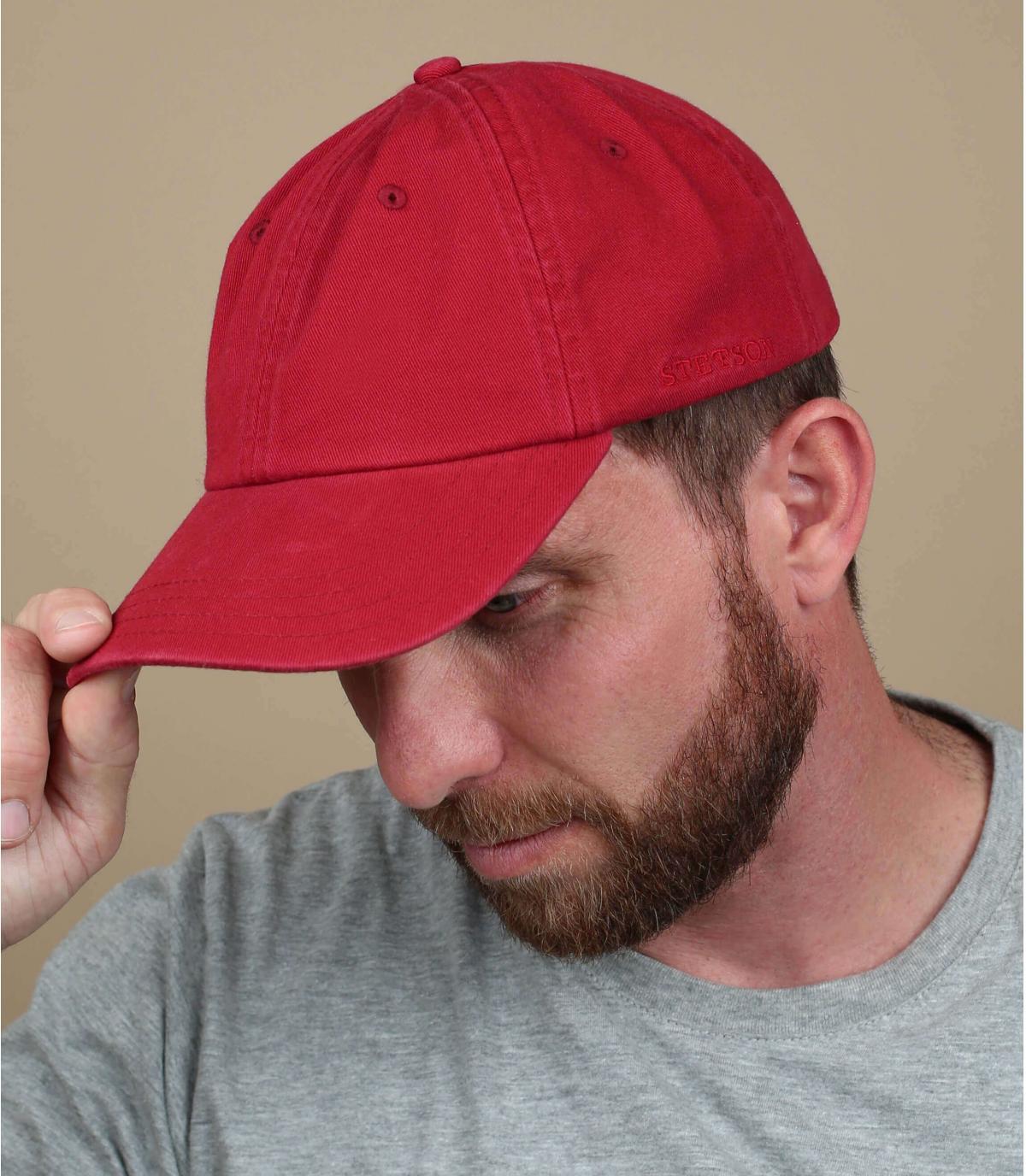 Stetson rood baseball cap