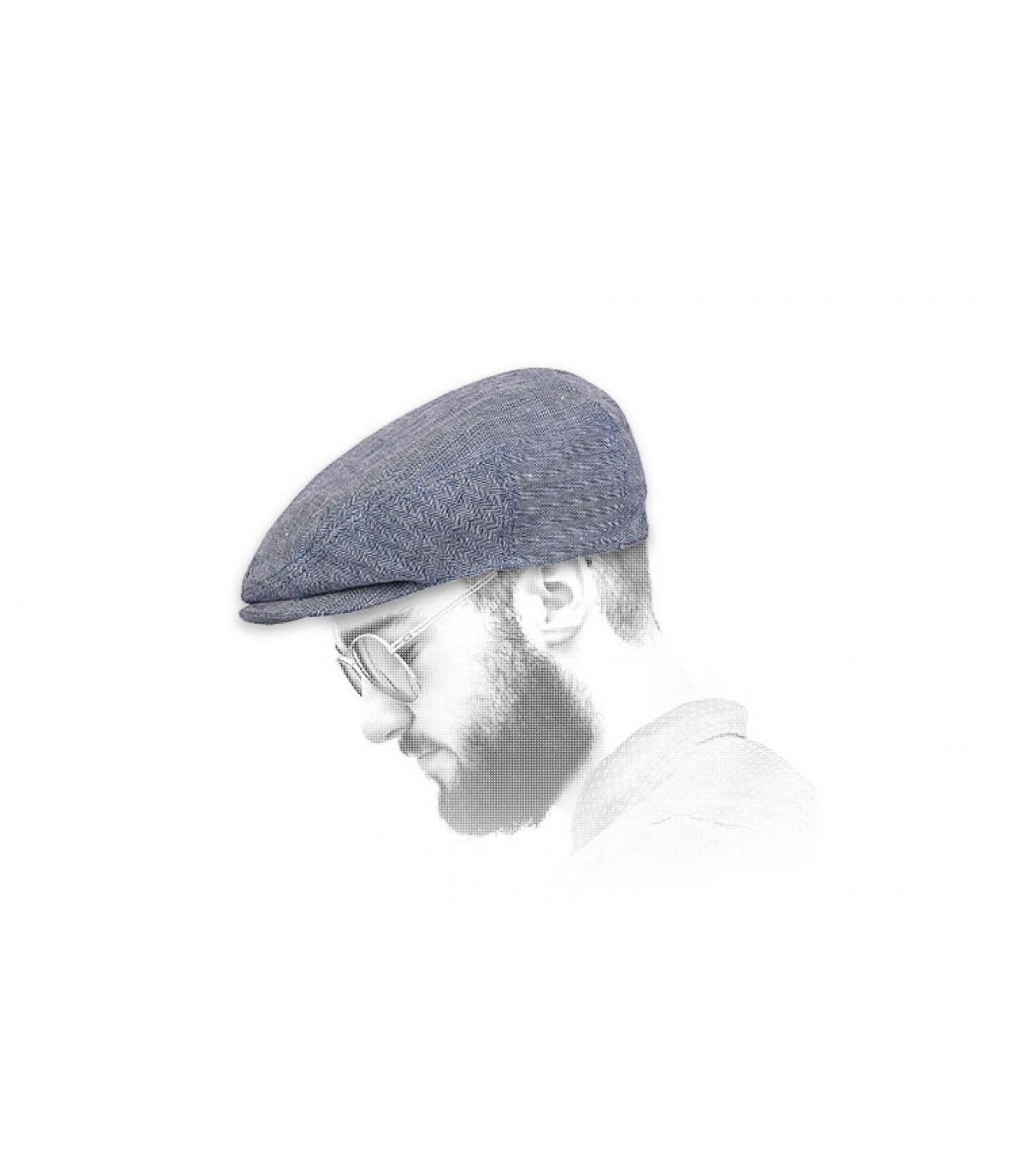 Herren gavroche cap blauw