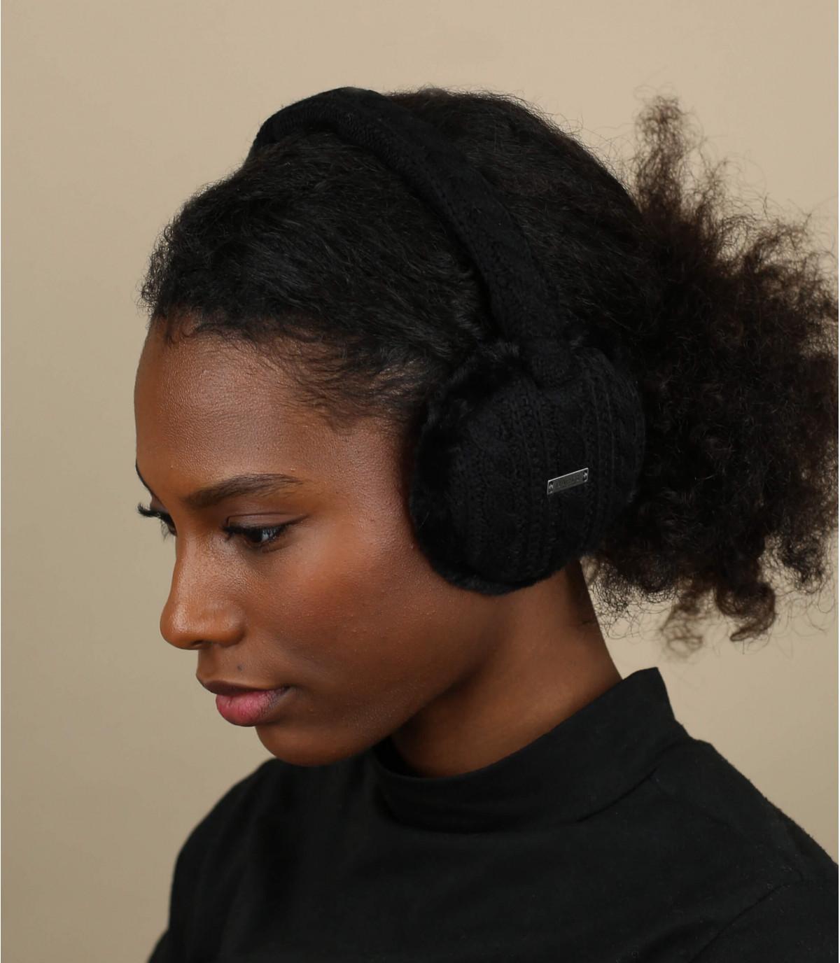 Verstelbare zwarte oorwarmers