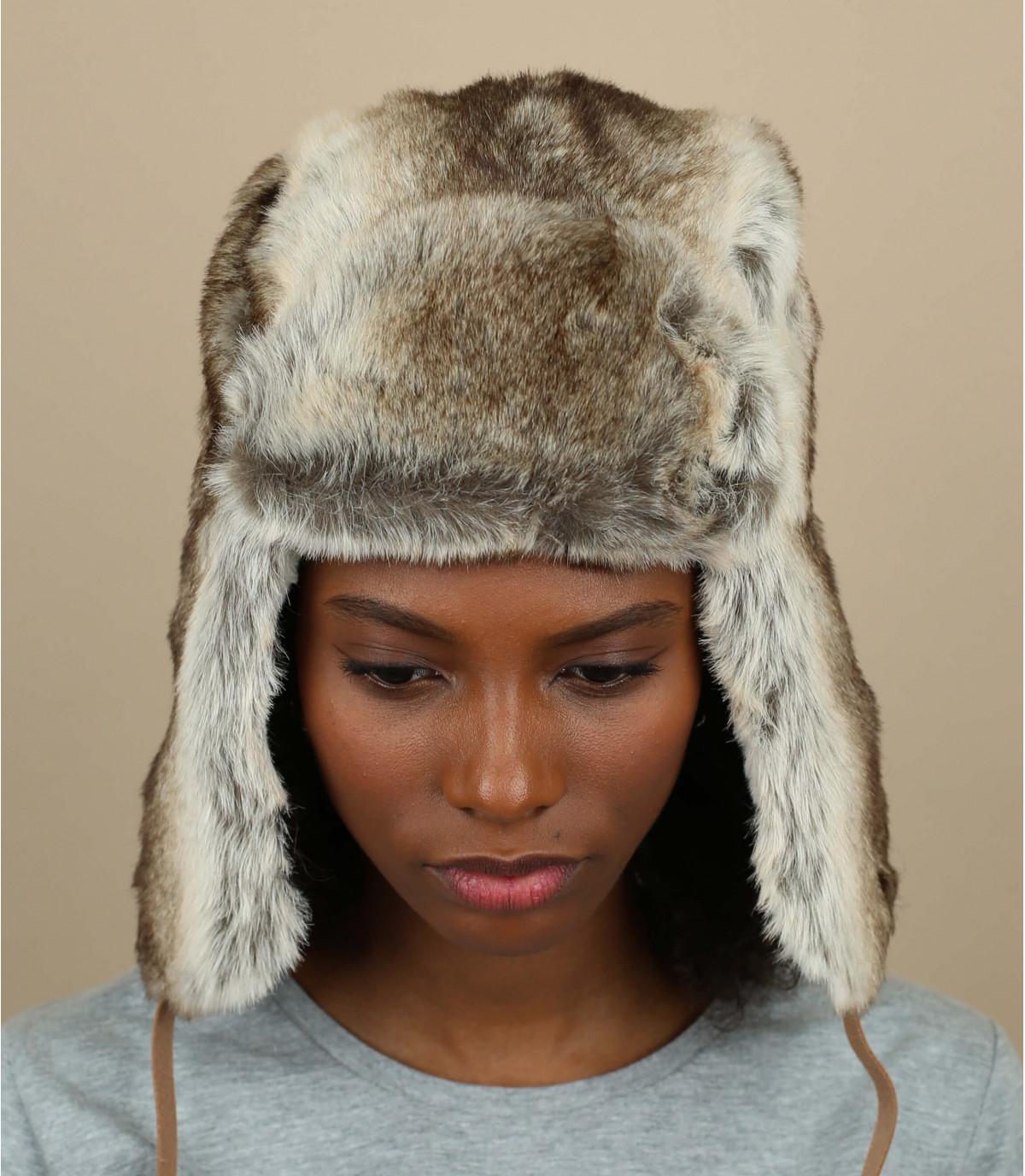 grijze vacht hoed Barts vrouw