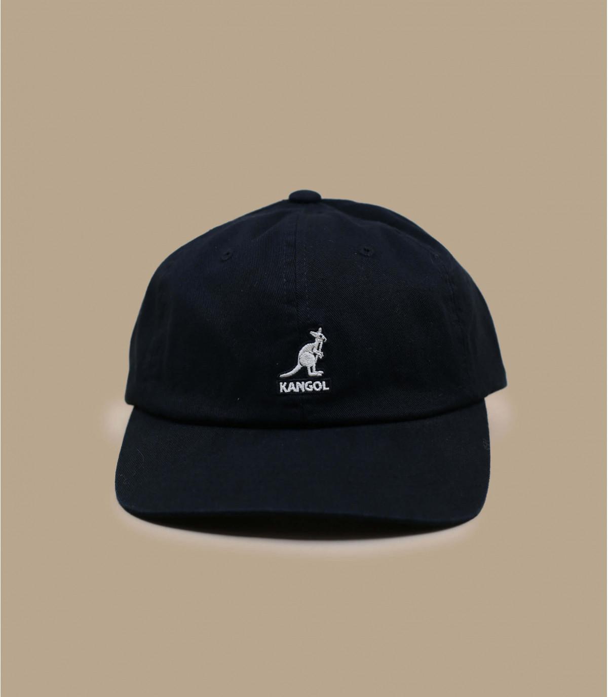 Zwarte katoenen baseball cap Kangol