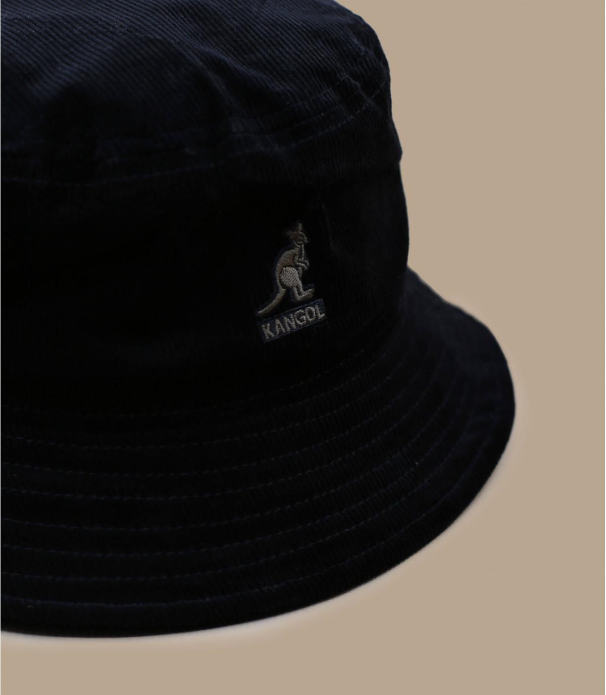 Kangol zwart fluwelen bob