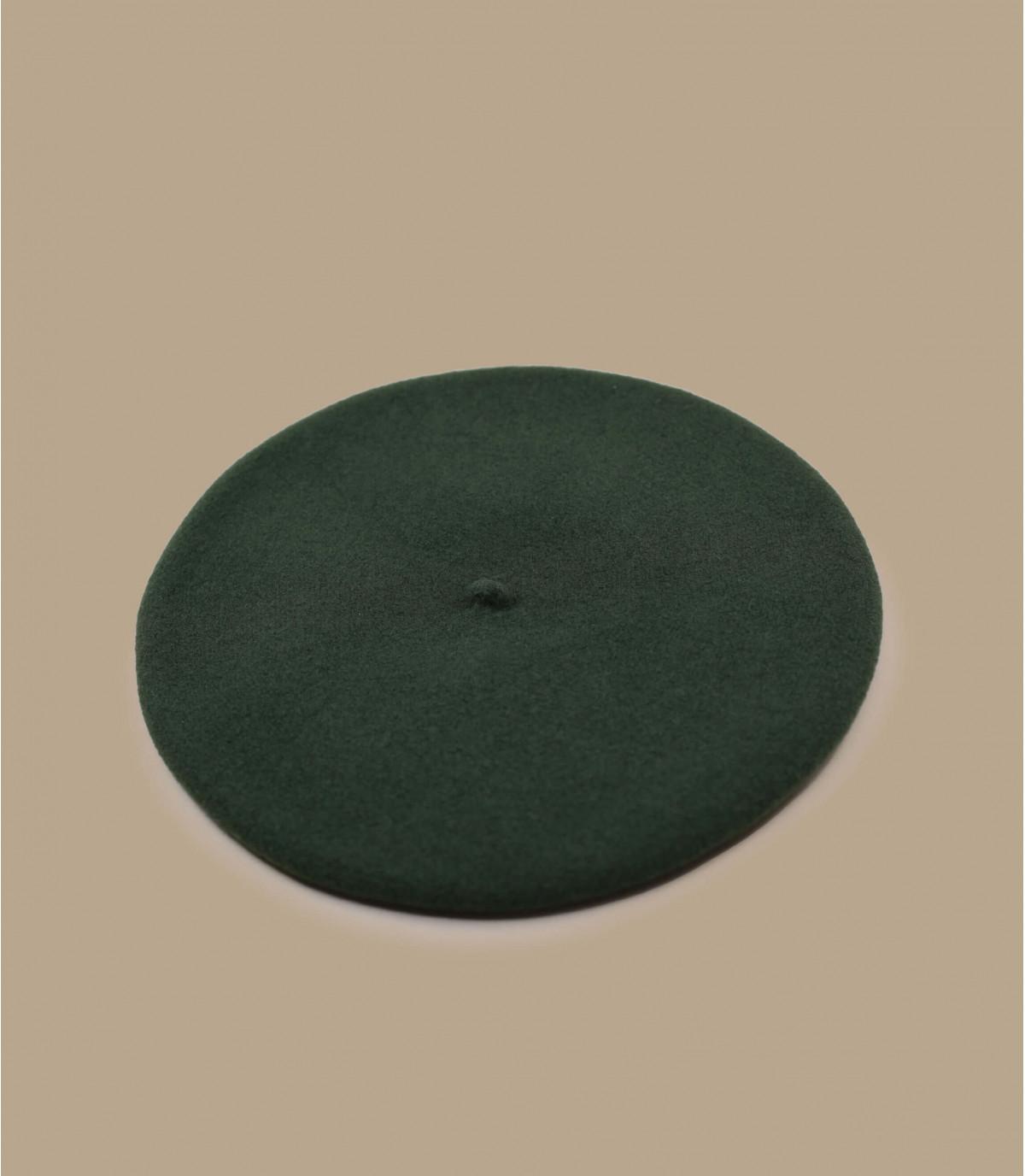 baret groene kaki wol