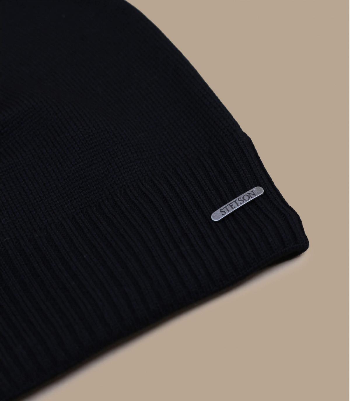 Details Beanie Oversized WV Merino black - afbeeling 2
