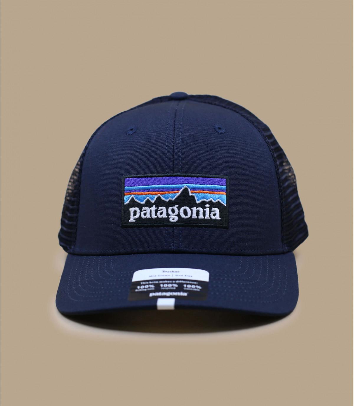 blauw gebogen vizier cap