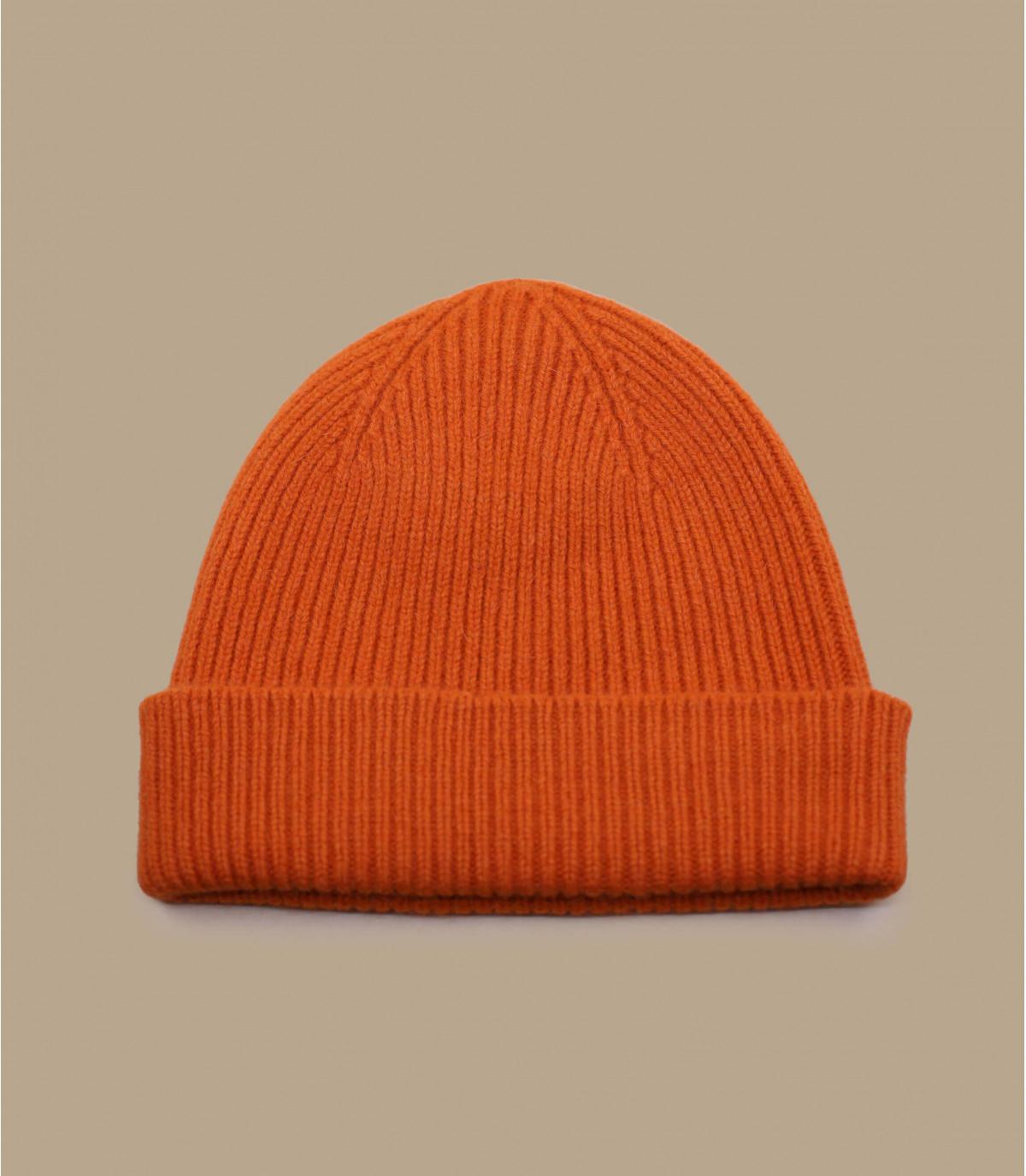 hoed revers oranje angora