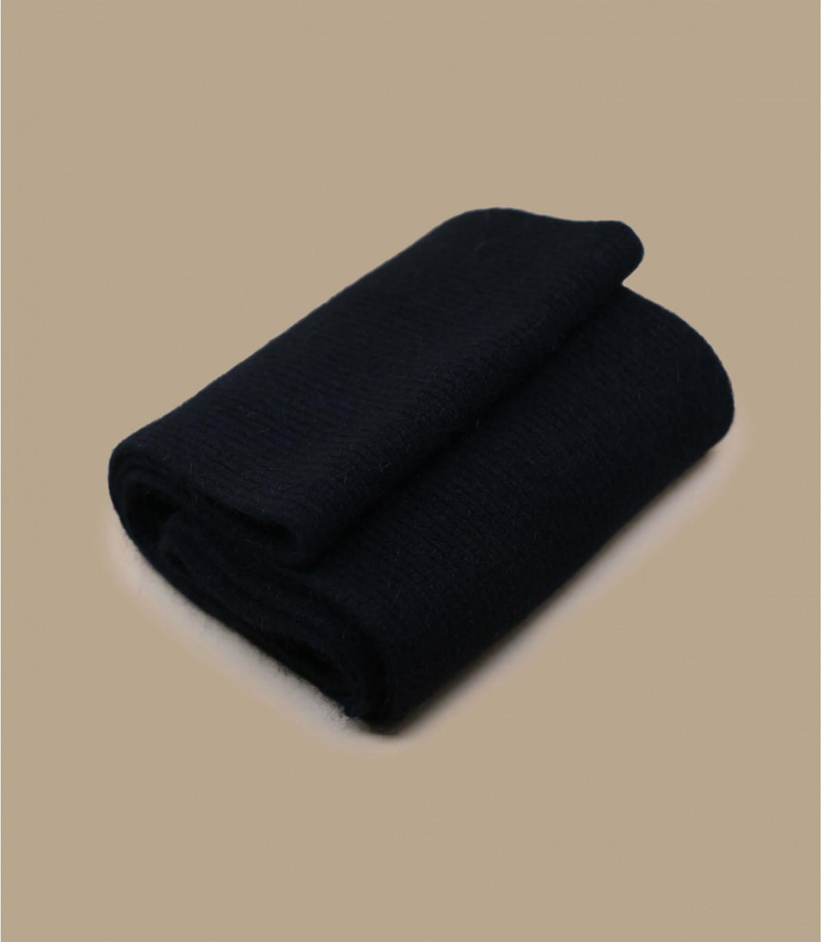 zwarte angora sjaal van lamsleer
