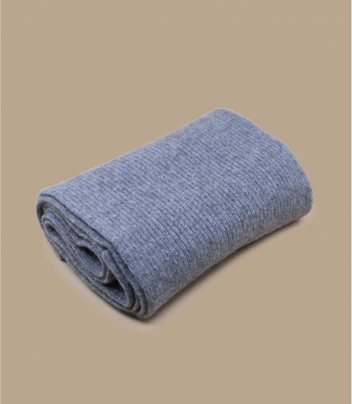 grijze angora wollen sjaal