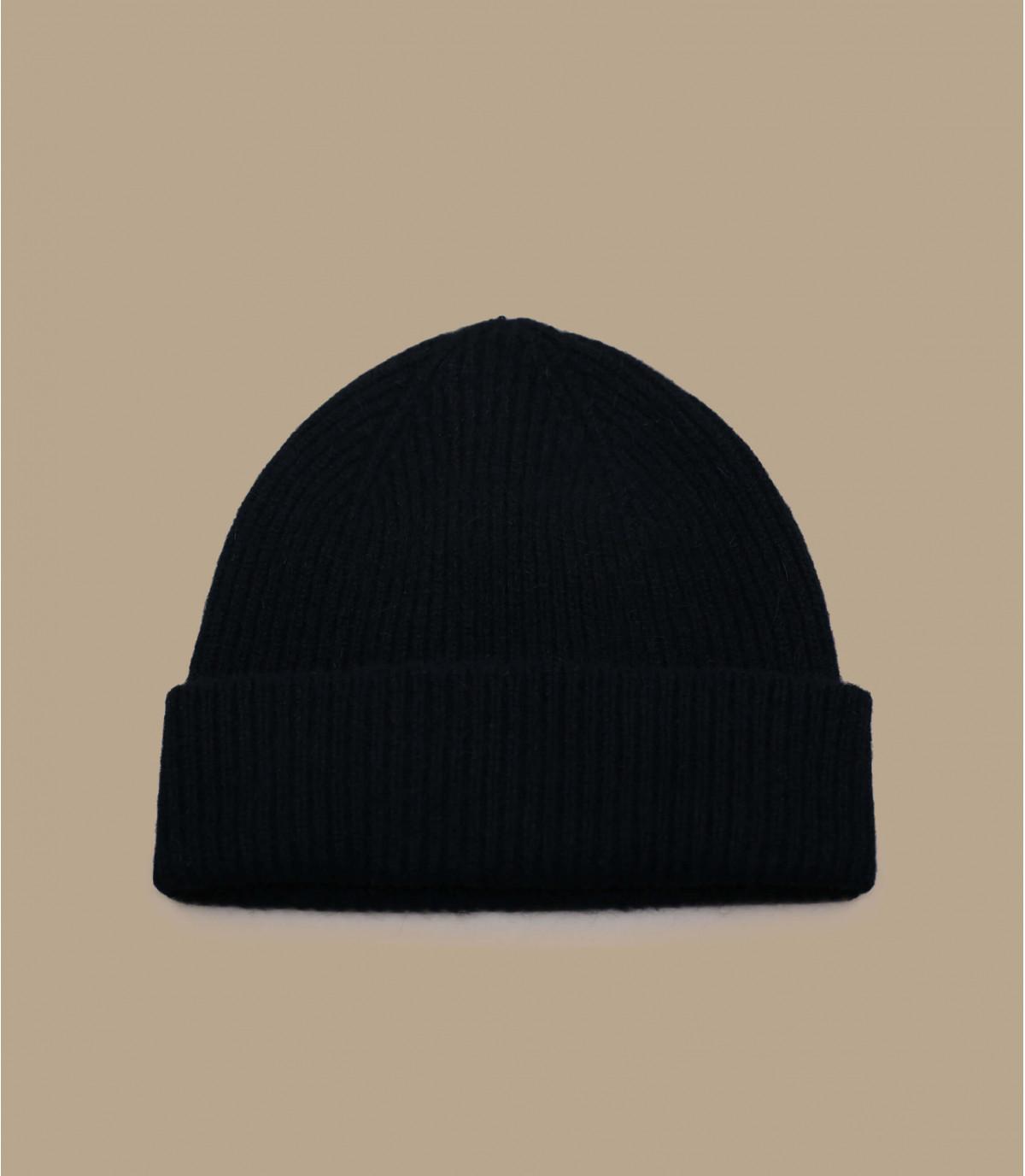 angorawol cap setback zwart