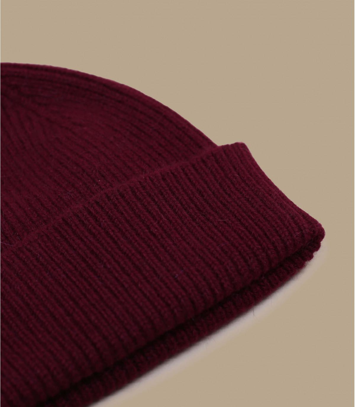 hoed revers bordeaux angora