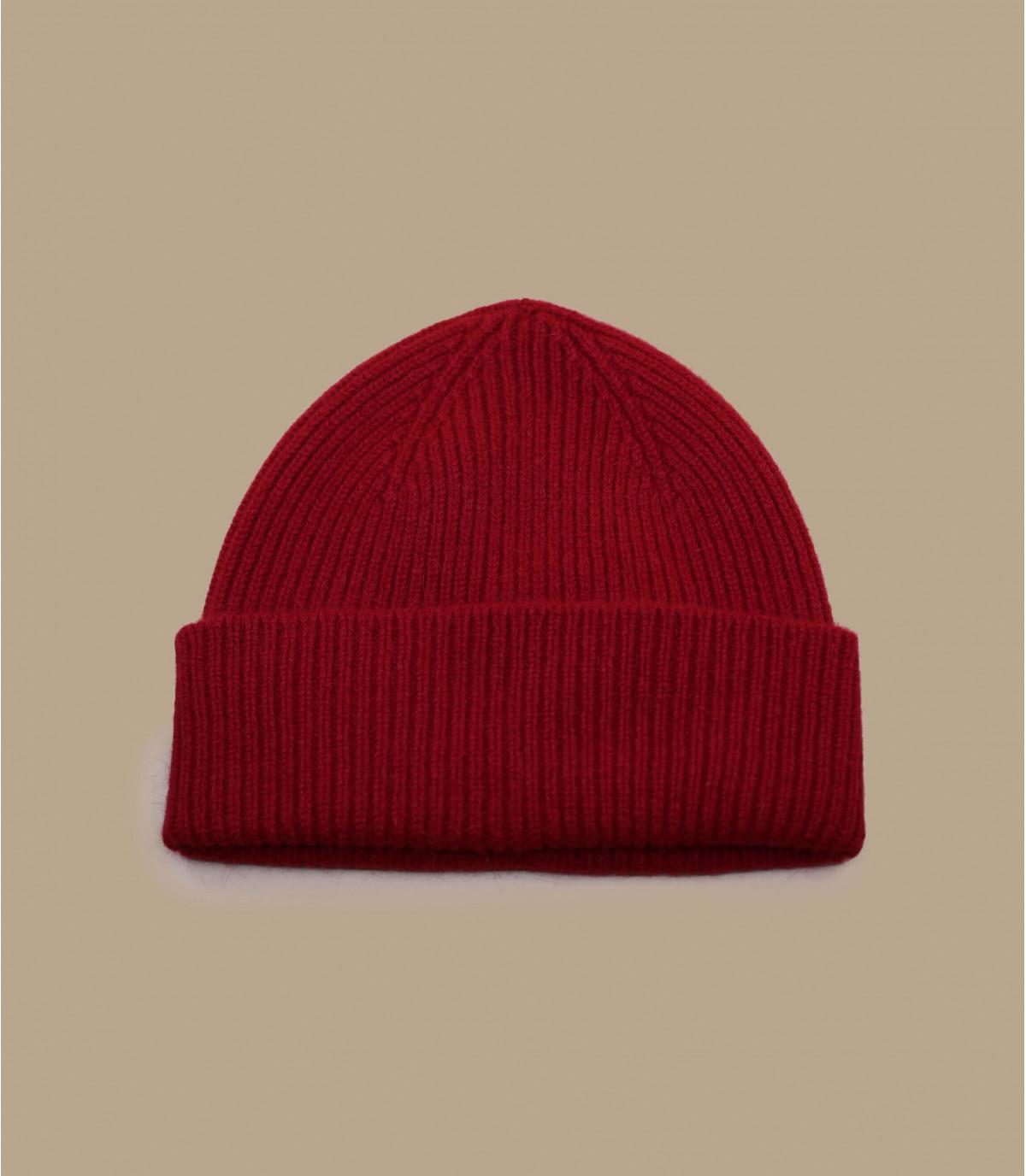 hoed revers rood angora