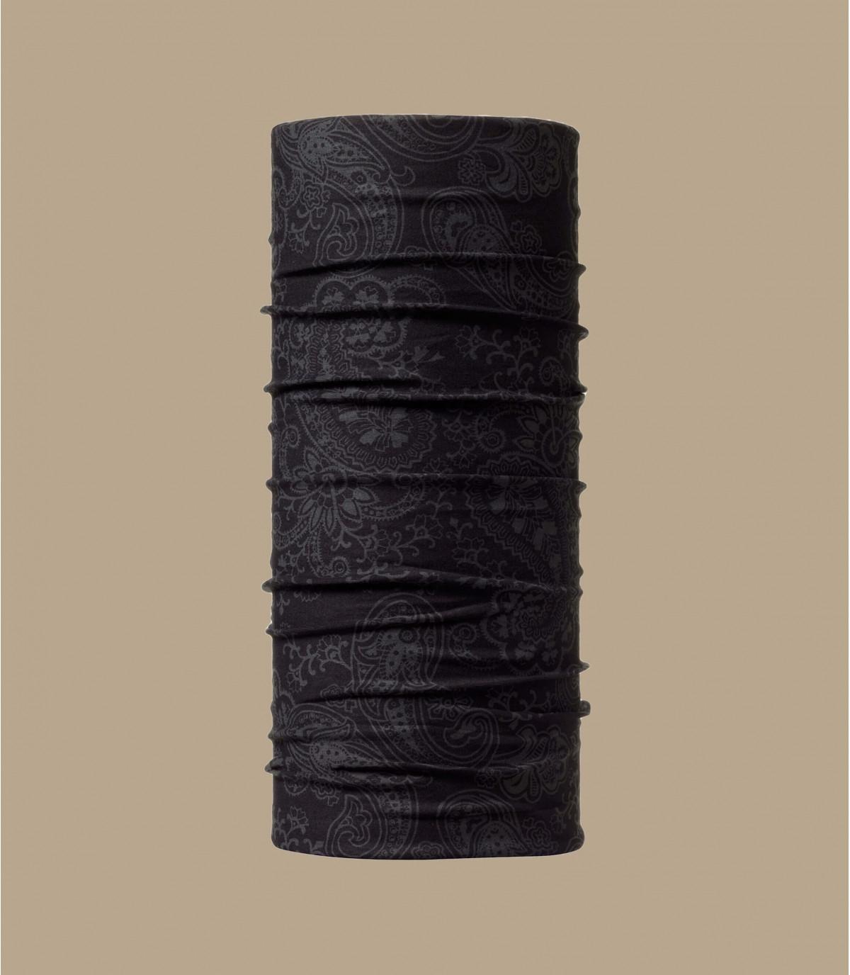 Buff ronde hals zwart patroon