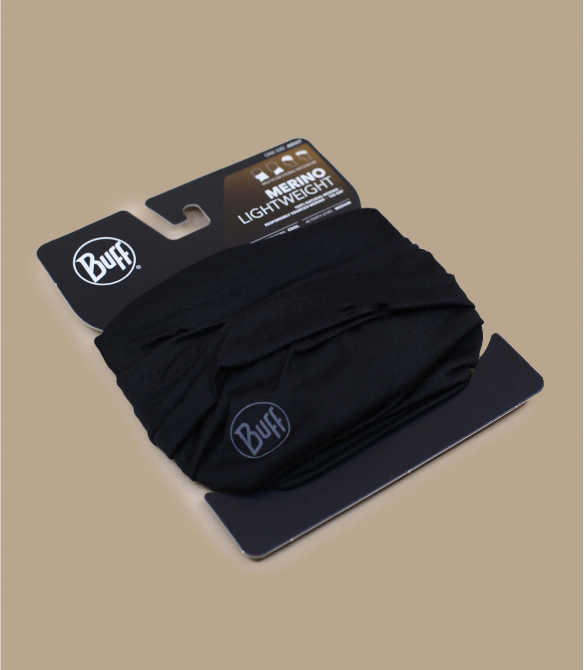 Details Lightweight Merino Wool solid black - afbeeling 2
