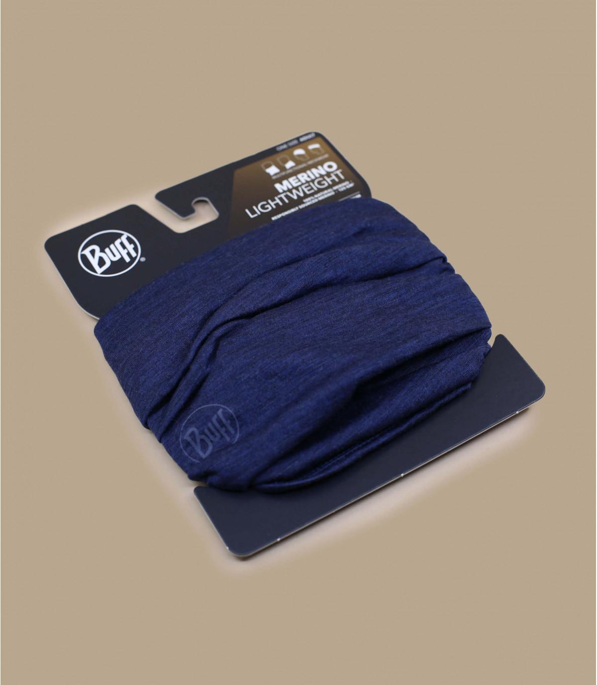 Details Lightweight Merino Wool solid denim - afbeeling 2