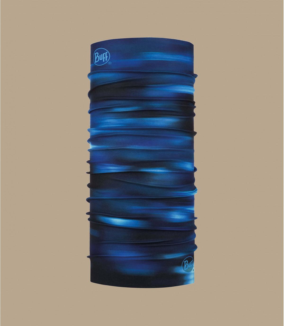 Buff afgedrukt blauw zwart