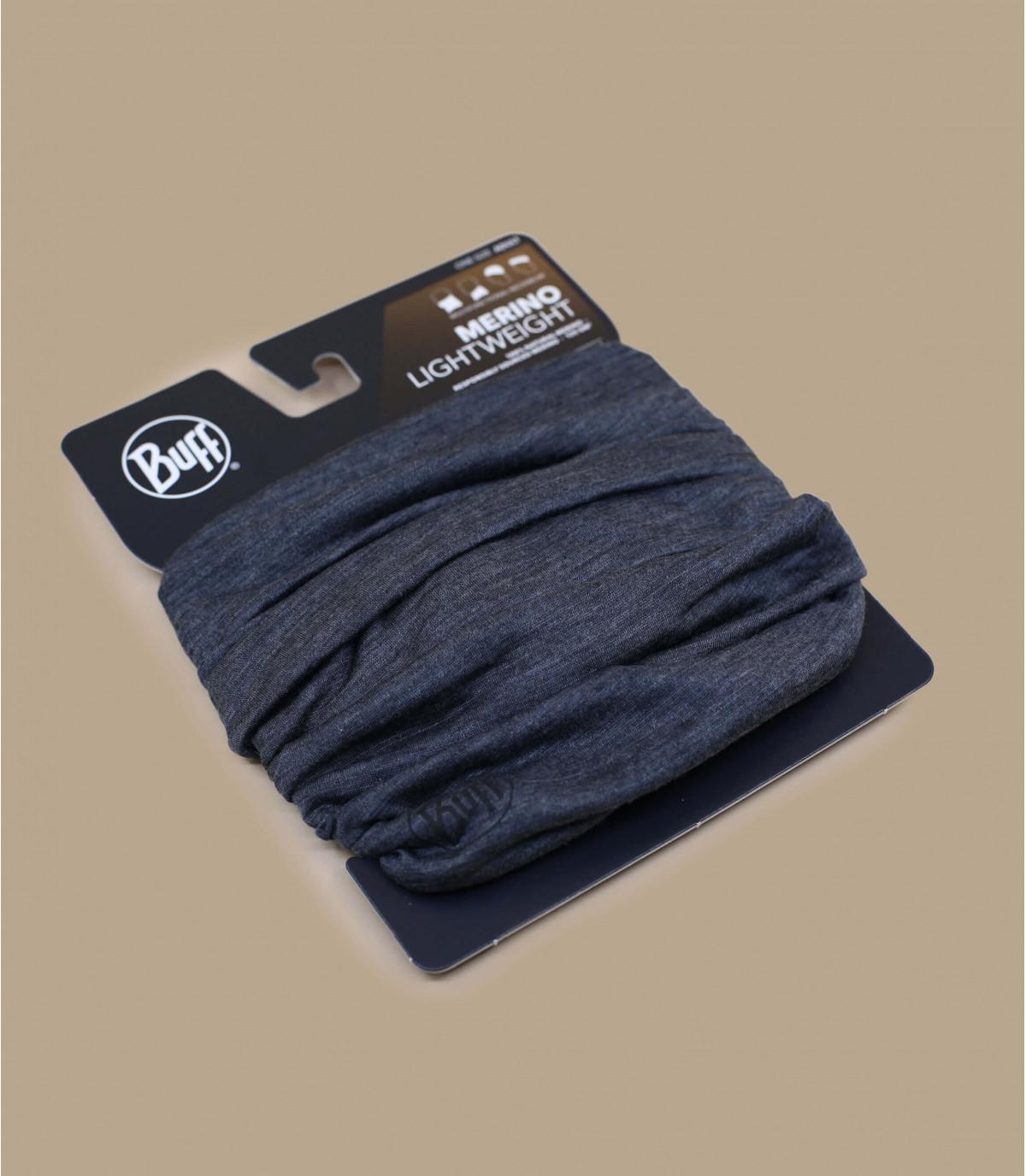Details Lightweight Merino Wool solid grey - afbeeling 2