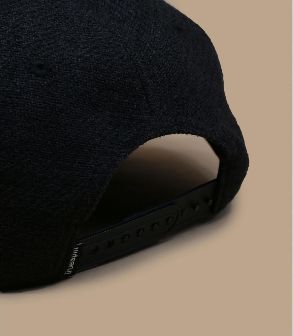 Details Snapback Rubber Taper black black - afbeeling 3