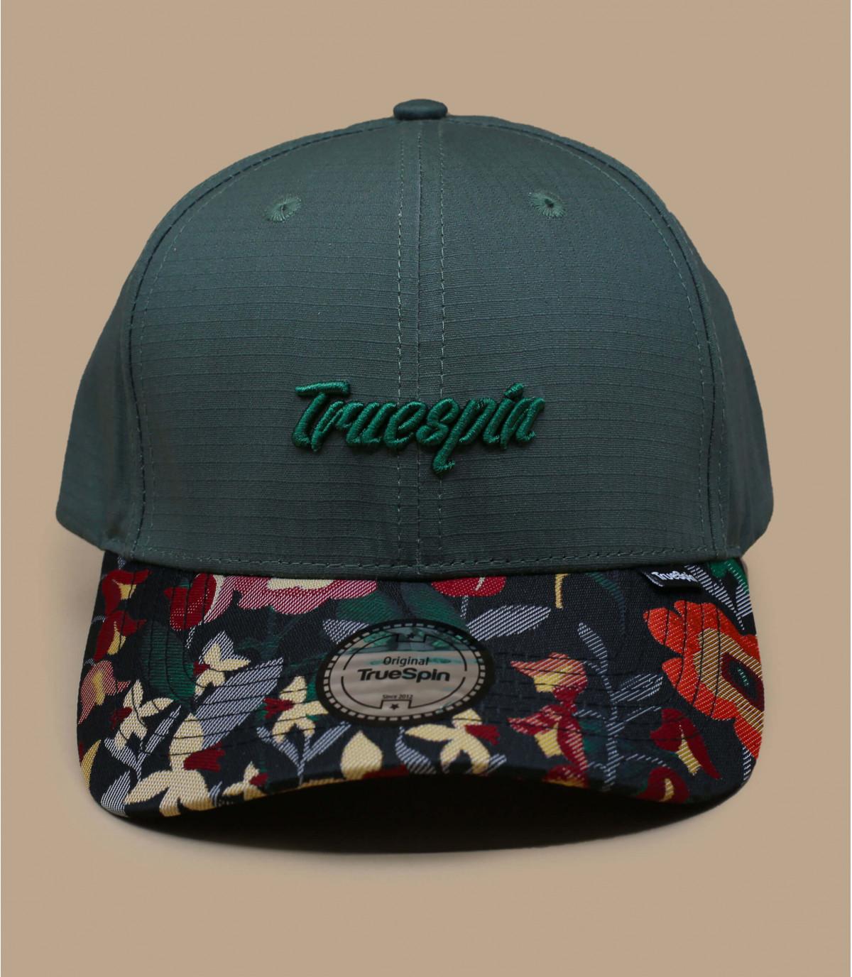 groen bloemmotief cap