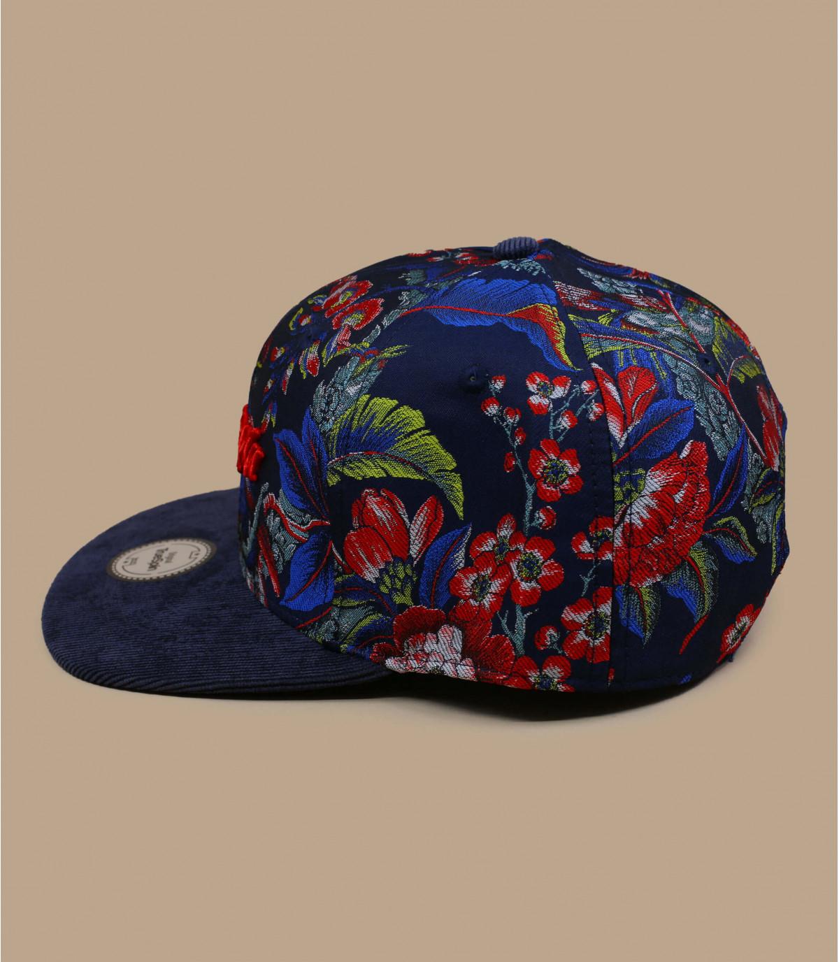 Details Snapback Shokufe floral navy - afbeeling 2