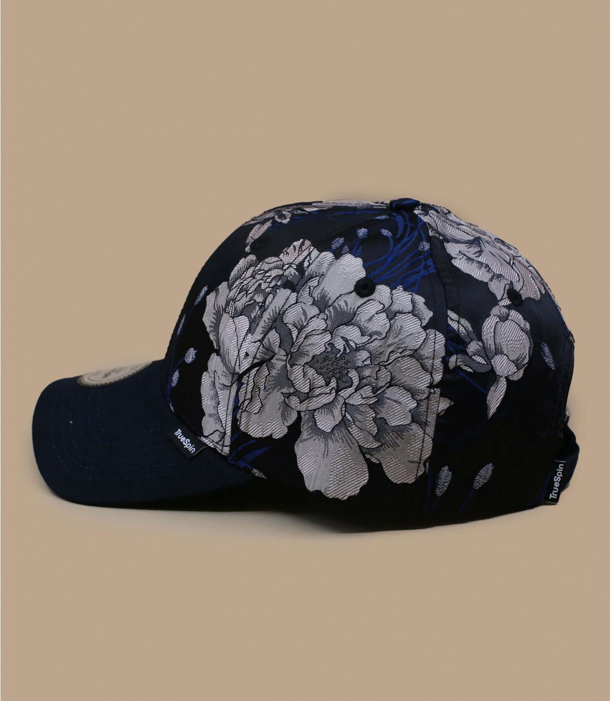 blauwe bloemen cap