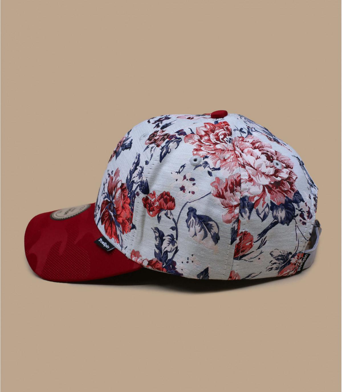 rode bloemen cap