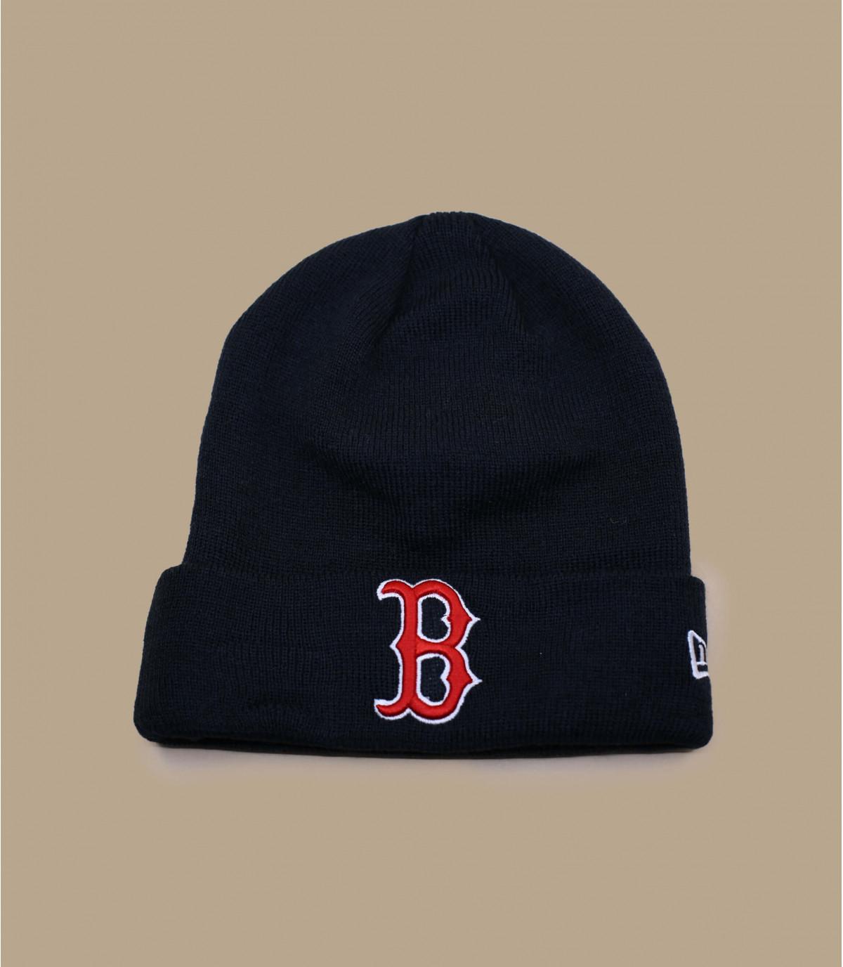 Boston blauwe revers hoed
