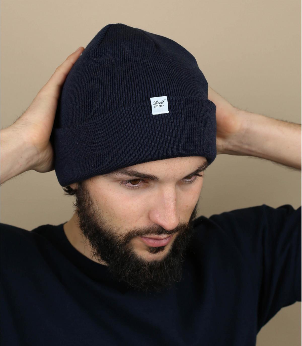 blauwe omkeerbare hoed Reell