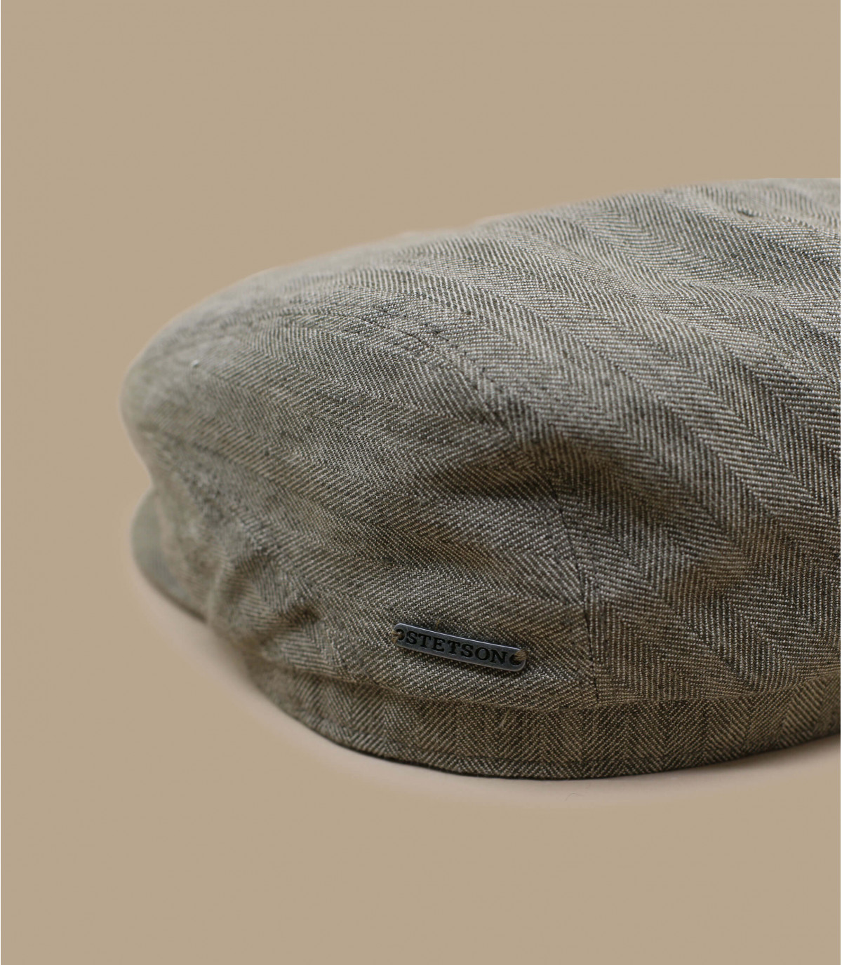 Details Driver Cap Cotton Linen olive - afbeeling 2