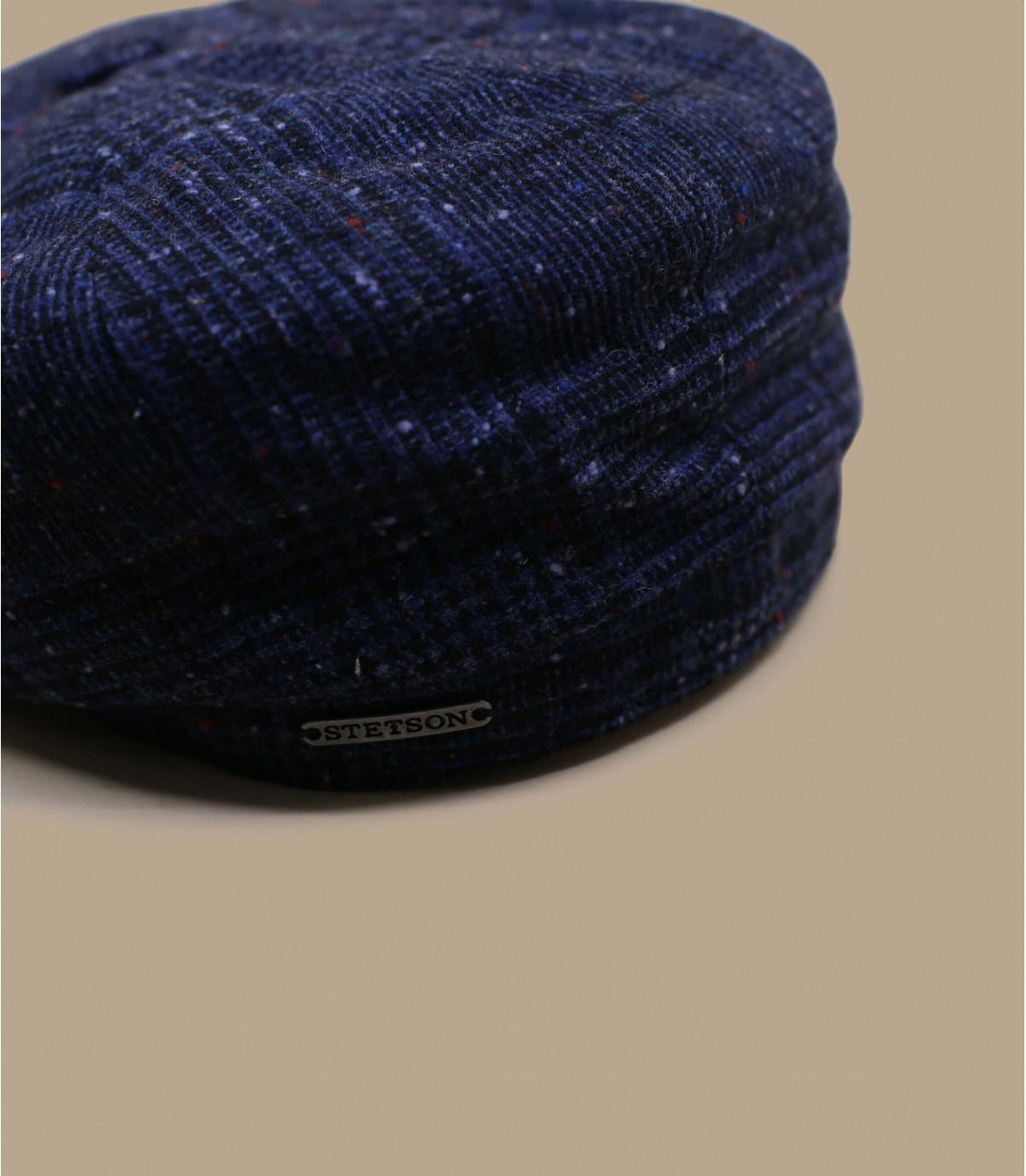 Details Hatteras Wool blue check - afbeeling 2