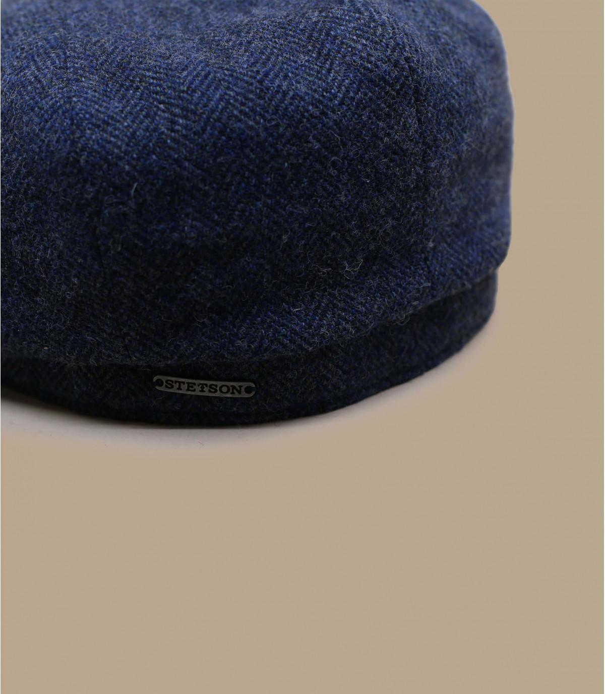 Details Hatteras Wool Herringbine blue - afbeeling 2