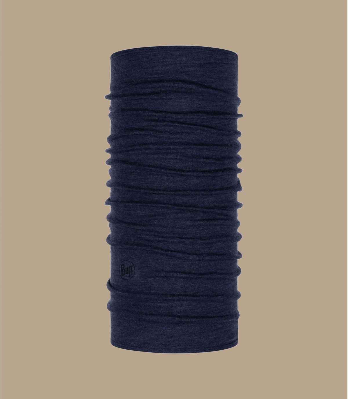 Merino blauwe buff merino wol