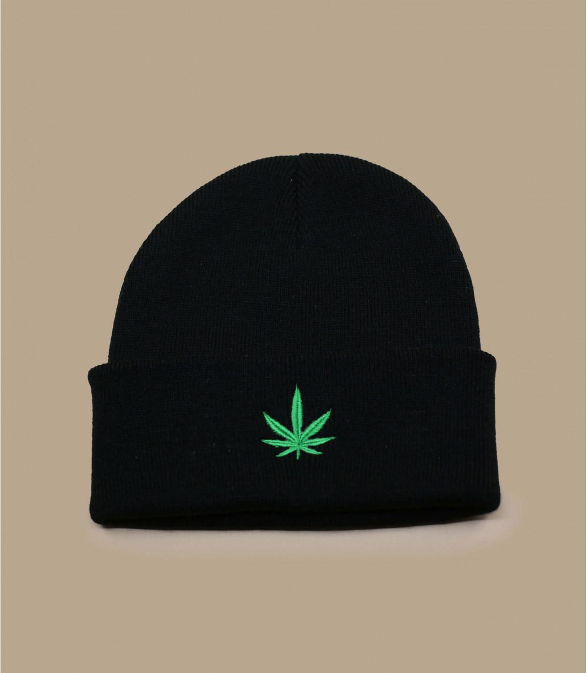 zwarte cannabis hoed