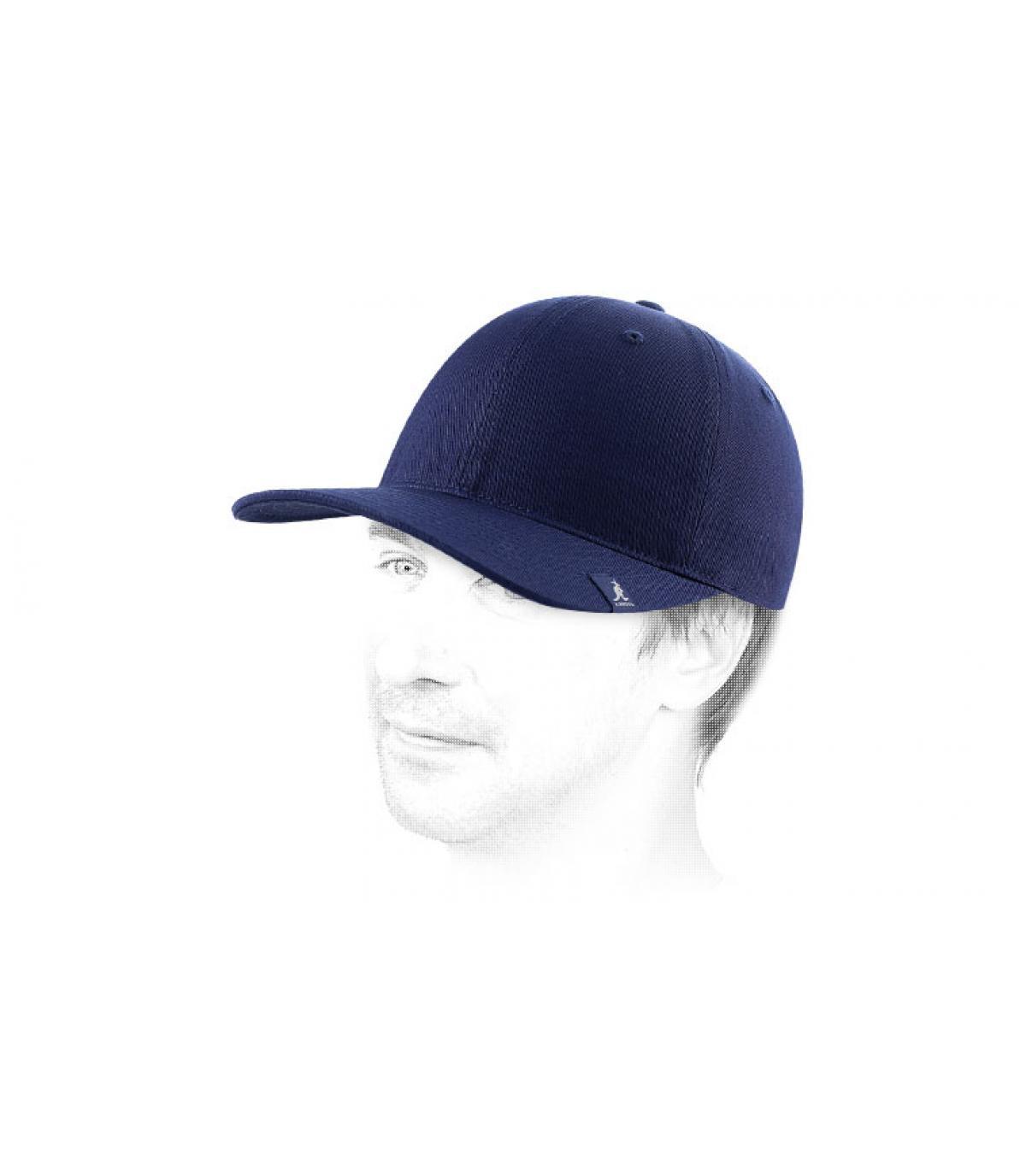 Blauw trucker cap