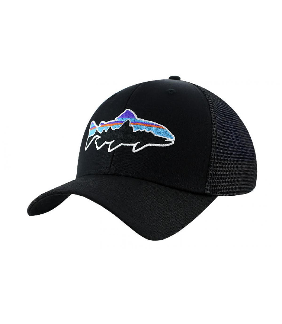 Zwart trucker cap