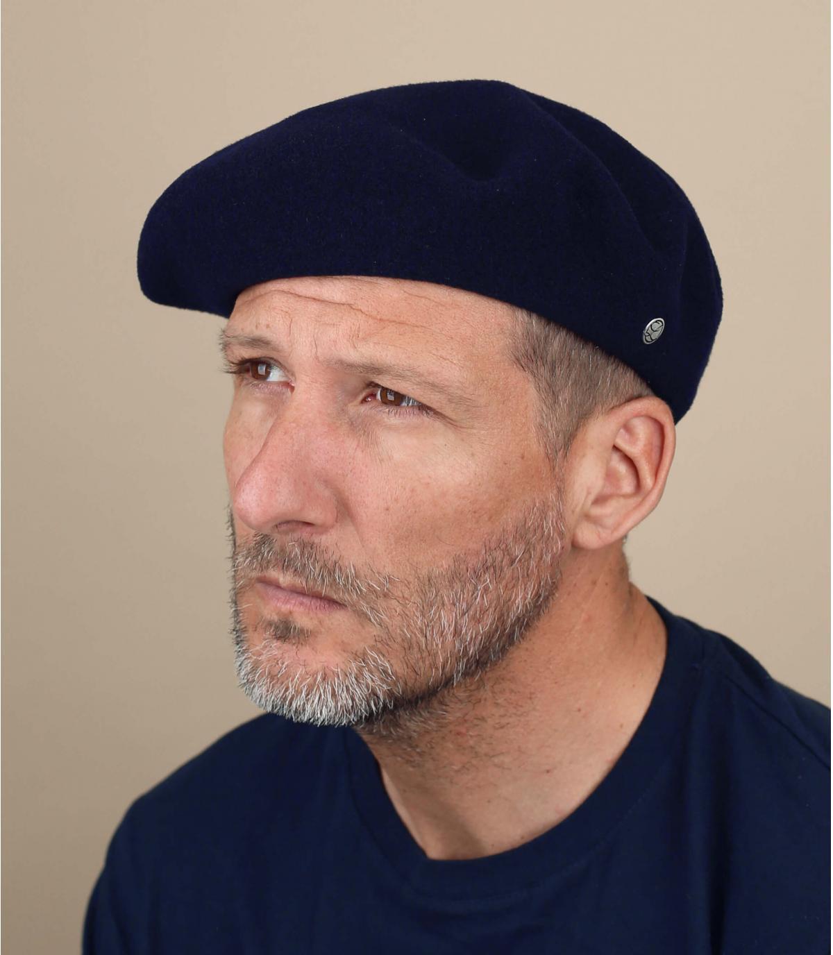 Blauw heren baret